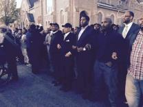 Faith leaders on the front line of peace and unity in Baltimore, Md. Photo courtesy Commission on Religion and Race.