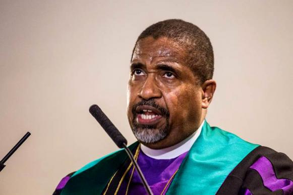 "CME Bishop Lawrence Reddick said the objectives of the ""Liberty and Justice for All"" campaign include criminal justice reform, education reform, economic justice, gun safety reform, and voting rights. Photo courtesy of Steven Martin, National Council of Churches"