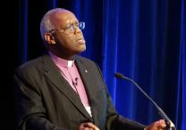 Bishop Warner Brown Jr., president of the Council of Bishops, calls on bishops to address racism and strengthen ecumenical relationships in his presidential address. Photo by Diane Degnan, United Methodist Communications