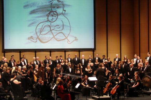An ecumenical choir, the Dallas Street Choir, an orchestra and opera star Frederica von Stade came together to perform