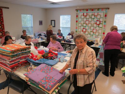Esta Basye had a dream of a sewing ministry and made it come true by founding the Women's Fellowship at Poetry United Methodist Church, in Poetry, Texas.