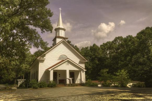 Fields Chapel United Methodist Church, in Cherokee County, Ga., has been going since about 1820. The current sanctuary had its dedication in 1899. The Rev. Sam Jones, a noted revivalist, preached the dedication sermon to a large crowd. Photo by Scott MacInnis, courtesy Historic Rural Churches of Georgia.