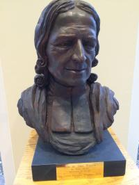 A bust of John Wesley that stands at United Methodist Commission of Archives and History in Madison, N.J. Photo by Fran Walsh, United Methodist Communications