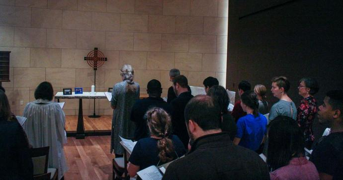 Students and faculty gathered in the Wesley Teaching Chapel on the campus of Emory University's Candler School of Theology on Sept. 30 to remember Kelly Gissendaner.