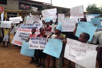 United Methodists led hundreds of students and residents in a July 3 protest march to register their indignation over a growing wave of incidents of rape in the Brewerville community of Liberia.