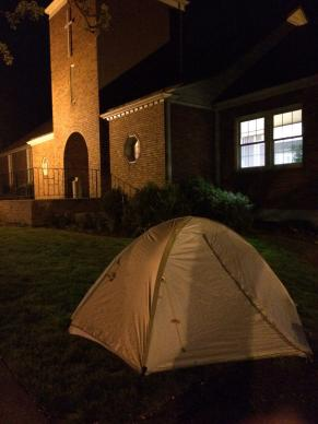 McMinnville Cooperative Ministries invited church members and supporters to camp out in a