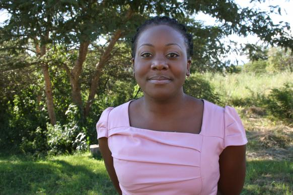 Millica S. Mwenitete wants to use her master's in Public Health to improve conditions that make people sick – such as helping communities get clean water. Photo by Vicki Brown, UMNS