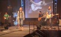 Southwestern College students and alumni lead worship during NEXT, an event of the United Methodist Student Movement.