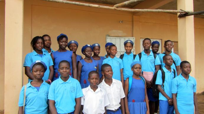A group of scholars from Operation Classroom shown during a recent fact-finding trip to Sierra Leone. Photo courtesy of Bob Coolman