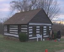 Video image shows building at Strawbridge Shrine historic site in Maryland. Courtesy of United Methodist Communications.