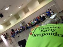 Westbury United Methodist Church in Houston, Texas was a hub for relief work by various agencies after flooding in the city in May 2016. Photo by Hannah Terry, The Texas Conference.