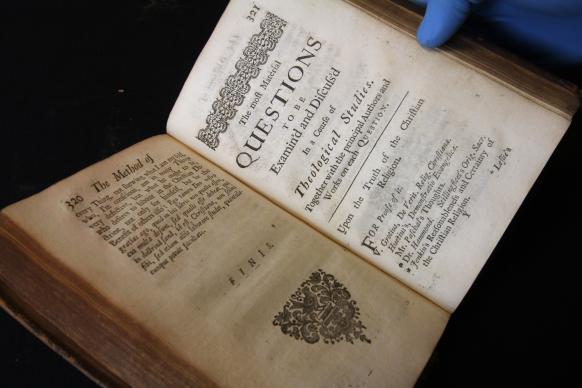 As it prepares to move within Nashville, The United Methodist Publishing House is deciding what to do about its rare book collection. Among the treasures is a 1720 copy of