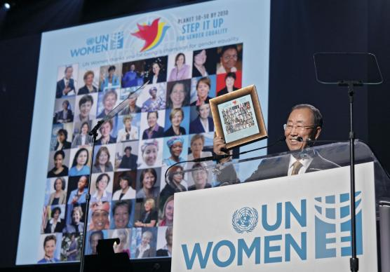 U.N. Secretary-General Ban Ki-moon takes part in
