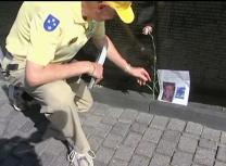 Veteran Bill Shugarts volunteers at the Wall in D.C. Video image by United Methodist Communications.