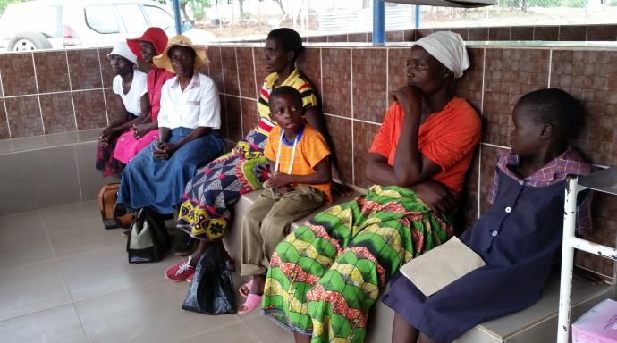 Patients wait in the sheltered outpatients bay at Nyahuku Clinic. Improvements at the satellite clinic of the United Methodist Nyadire Mission Hospital will help meet the demands of the 14 villages in the area. Photo by Eveline Chikwanah, UMNS