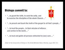 United Methodist bishops will consider adopting a covenant of accountability based on their consecration vows.