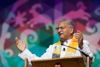 Bishop Ivan Abrahams preached May 17 at the 2016 United Methodist General Conference in Portland, Ore., and he'll be in the spotlight at the World Methodist Conference, set for Aug. 21-Sept. 3 in Houston. Abrahams, a South African, is top executive of the World Methodist Council. Photo by Mike DuBose, UMNS