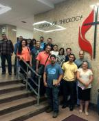 Garrett-Evangelical Theological Seminary's new Licensing School for Pastoral Ministry in Portuguese began in August, with 16 Brazilian candidates representing three annual conferences. The classes were held at Boston University School of Theology. Photo courtesy the Rev. Juarez Gonçalves