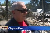 """Fire destroys but it also purifies so let's see where it takes us,"" says the Rev. John Pavoni, the church's pastor, about the devastating Clayton Fire in California. Screenshot from CBS 13 Video."