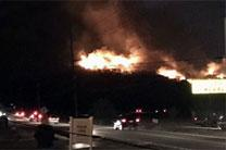 Forest fires rage near Gatlinburg, Tennessee. Photo courtesy of the Holston Conference.