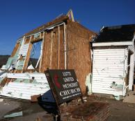 The United Methodist church in Lutts, Tenn., was destroyed by a tornado on Dec. 23. Photo by Angela Overstreet