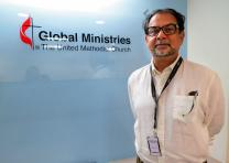 Marvin Parvez, a regional representative in Islamabad, Pakistan, for Community World Service Asia, visited partner agency offices in New York and Washington in August before heading to Houston for the World Methodist Conference. Photo by Linda Bloom, UMNS