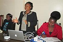 United Methodist regional missionary Grace Musuka speaks at the one-day maternal and child heath workshop in Harare in June 2016. Photo courtesy Kudzai Chingwe.