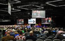 Delegates and visitors listen to debate on petitions May 19 at the 2016 United Methodist General Conference in Portland, Ore. A new group hopes to influence a new commission authorized by General Conference. Photo by Maile Bradfield, UMNS
