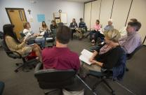 A small group meets at McKendree United Methodist Church in Lawrenceville, Ga. Photo by Kathleen Barry, United Methodist Communications