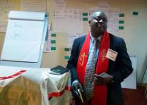 Nigeria Area Bishop John Wesley Yohanna speaks at a roundtable discussion in Lagos, Nigeria, in March. Organized by the United Methodist Board of Global Ministries, the three-day roundtable focused on the future of The United Methodist Church in Nigeria. Photo by the Rev. Ande I. Emmanuel, UMNS.