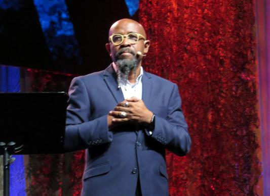 The Rev. Rudy Rasmus of St. John's United Methodist Church in Houston preached on Sept. 1 at the World Methodist Conference. The gathering continues in Houston through Sept. 3. Photo by Sam Hodges, UMNS