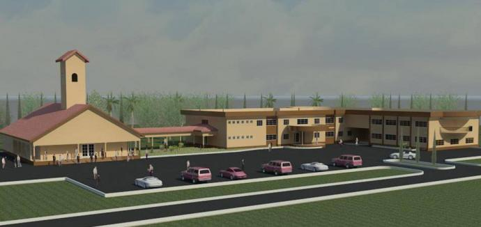 Ambitious plans are in the works for the United Methodist University of Sierra Leone. The university's first phase, a School of Theology and Ministry, opens in October. Drawing courtesy Sierra Leone Conference.