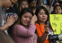 Hundreds march for DACA and the Dream Act leaving from Centennial Park and ending outside the offices of Senators Corker and Alexander in Nashville, Tenn., Sept. 5, 2017. Photo by Kathleen Barry, United Methodist Communications