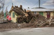 Damage from Hurricane Irma is visible in this neighborhood in Goodland, Fla. Photo by Kathleen Barry, UMNS.