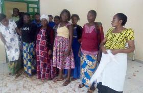 Women visit the newly opened Irambo Clinic. Photo by Philippe Kituka Lononga, UMNS.