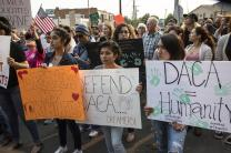Hundreds march for DACA and the Dream Act in Nashville, Tennessee, on Sept. 5, leaving from Centennial Park and ending outside the offices of U.S. Senators Bob Corker and Lamar Alexander. Photo by Kathleen Barry, United Methodist Communications.