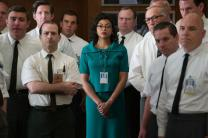 "In this scene from ""Hidden Figures,"" Taraji P. Henson in her role as Katherine G. Johnson stands out amid her team of fellow mathematicians that helped send into orbit John Glenn. Photo by Hopper Stone, ""Hidden Figures"" (20th Century Fox)"