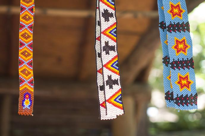 Examples of fine beading are on display at Oconaluftee Indian Village in Cherokee, N.C. Photo by Kathleen Barry, UMNS.