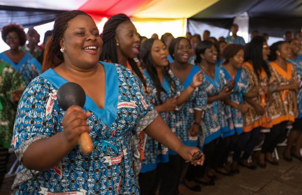 The Africa University choir sings during the 25th anniversary celebration for the United Methodist school in Mutare, Zimbabwe. Photo by Mike DuBose, UMNS.