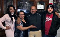 Humberto Barralaga, second from right, was arrested by officials with the U.S. Immigration and Customs Enforcement on Feb. 7. Barralaga, a member of the lay leadership at the House of Prayer United Methodist Church in Dodge City, Kansas, is shown with his family. Photo courtesy of the Rev. Raciel Quintana.