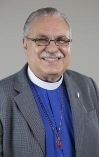 Portrait of Bishop Hector Ortiz by Kathleen Barry, United Methodist Communications.