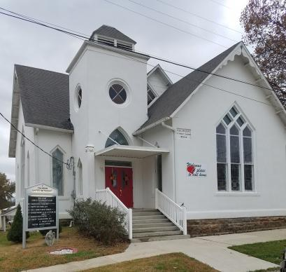 "Calhoun (Mo.) United Methodist Church is one of two small rural churches Margie Briggs writes about in ""Can You Just Get Them Through Until Christmas?"""