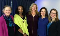 The editors of The CEB Women's Bible are the Rev. Christine A. Chakoian, the Rev. Judy Fentress-Williams, the Rev. Jaime Clark-Soles, the Rev. Ginger Gaines-Cirelli and the Rev. Rachel Baughman. Gaines-Cirelli and Baughman are United Methodists, and Clark-Soles teaches at United Methodist Perkins School of Theology. Photo courtesy of Abingdon Press.