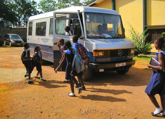 Children return home to the Child Rescue Center after school. A 2012 file photo courtesy of the Child Rescue Center.