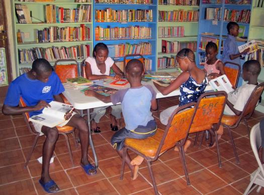 The Child Rescue Center in Sierra Leone maintains a well-equipped library where children can find reference materials and a quiet place to study. A 2012 file photo courtesy of the Child Rescue Center.