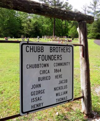 Eight brothers of the free black Chubb family are credited with founding Chubbtown, Georgia, buying land there at least by 1864, before the end of the Civil War. The cemetery is lovingly maintained, in part with funds raised by an annual special service at Chubb Chapel United Methodist Church, just across Chubb Road. Photo by Sam Hodges, UMNS.