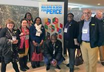 Directors of the United Methodist Board of Church and Society tour the United Nations after their March 24 meeting at the Church Center for the U.N. Photo by Levi Bautista, GBCS.