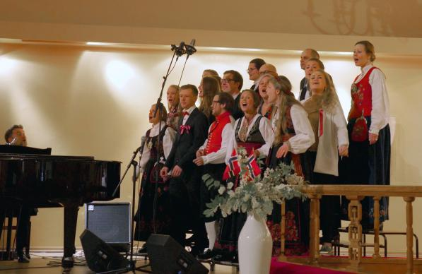 Signatur Gospel Choir, whose members come from United Methodist churches in Oslo, Norway, sing