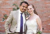 The Rev. Orlando and Emily Gallardo were married on July 16, 2016. He is a recipient of a Deferred Action for Childhood Arrivals and is concerned he may be deported if changes are made to that program by the Trump Administration.