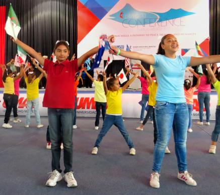 Students at a Methodist school in Puebla, Mexico, danced at the May 28 opening ceremony of the International Association of Methodist-related Schools, Conferences and Universities (IAMSCU) conference. The conference's theme is
